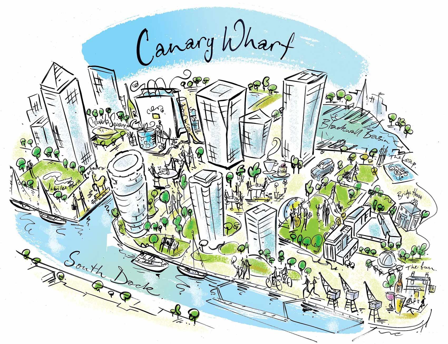 Canary Wharf Illustration