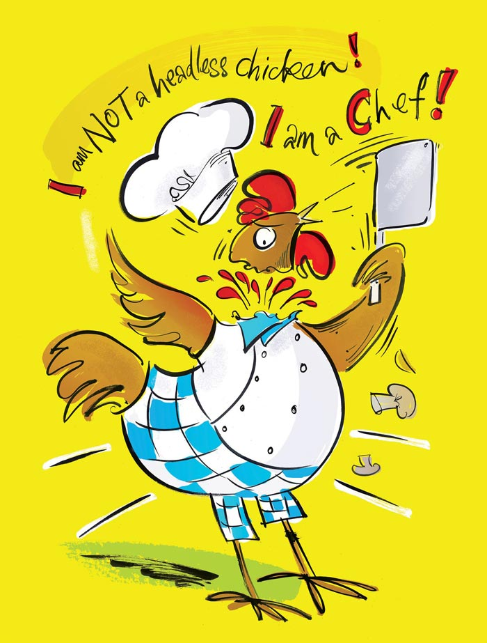 Chicken Cartoon Poster